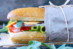 Popular panini sandwich Stock Photo