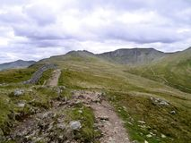 Popular path leading to Helvellyn, Lake District Stock Image
