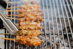 Popular pork grill of thai people Royalty Free Stock Photos