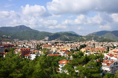 The popular resort city of Marmaris in Turkey Royalty Free Stock Photos