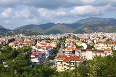 The popular resort city of Marmaris in Turkey Stock Photography
