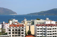 The popular resort city of Marmaris in Turkey Royalty Free Stock Photography