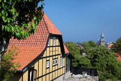 Popular restaurant destination on Bornholm Stock Image