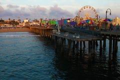 The popular Santa Monica Pier Royalty Free Stock Photography