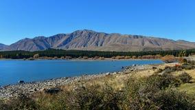 Popular and scenic Lake Tekapo in Canterbury Stock Photography