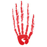 Popular scream red bloody handprints halloween isolated on white Royalty Free Stock Image