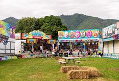 Popular Show Bags For Sale At Country Fair. MACKAY, QUEENSLAND, AUSTRALIA - JUNE 16TH 2019: Show bag stalls for sale at Pioneer Valley Country Show stock photo