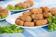 Popular side dish Croquetas fritas Stock Photography