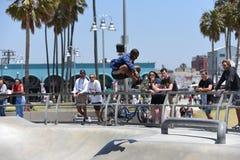 Popular skatepark on Venice Beach, CA Royalty Free Stock Images