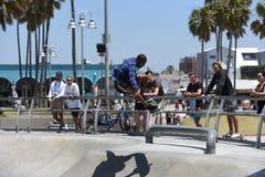 Popular skatepark on Venice Beach, CA Stock Photos