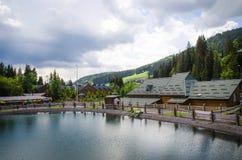 Popular ski resort Bukovel in the summer Royalty Free Stock Image