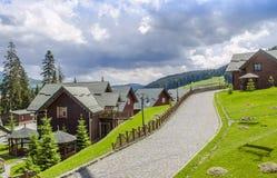 Popular ski resort Bukovel in the summer Stock Image