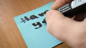 Popular slogan written in a notebook stock video footage
