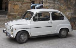 Popular small family spanish car. Popular old small family spanish car by the 60s and 70s Royalty Free Stock Photography