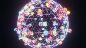 Popular social media application icons Instagram, Twitter,Facebook,SnapChat,Tiktok logos animated