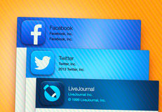 Popular social networking applications Stock Photography
