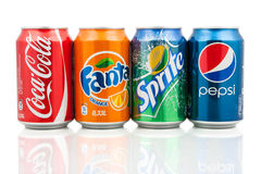Popular soda drinks Stock Image
