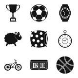 Popular sport icon set, simple style Royalty Free Stock Image