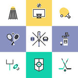 Popular sports pictogram icons set Stock Photography