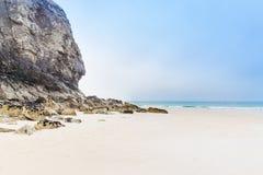 Popular St Agnes and Chapel Porth Atlantic ocean coast, Cornwall Royalty Free Stock Images