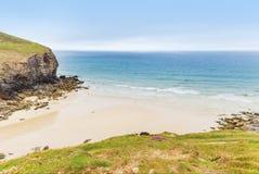 Popular St Agnes and Chapel Porth Atlantic ocean coast, Cornwall Royalty Free Stock Image