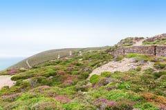 Popular St Agnes and Chapel Porth Atlantic ocean coast, Cornwall Royalty Free Stock Photo