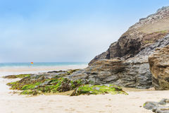 Popular St Agnes and Chapel Porth Atlantic ocean coast, Cornwall Stock Images