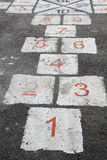 Popular street game/ Hopscotch Stock Photography