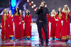Popular Swedish singer Bosson opens musical program Stock Images