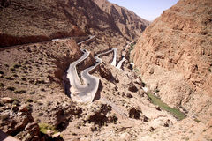 Popular switchback in the valley of Dades, Morocco Stock Images