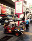 Popular  taxi in thailand(TUKTUK) Stock Photos