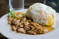 Popular Thai  food, (kaTeam  Pic Thai ). Stock Image