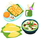 Popular Thai green curry food set  Royalty Free Stock Photography