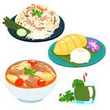 Popular Thai sweet mango sticky rice set  Stock Photography