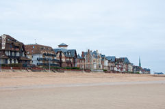 Popular tourist attraction Houlgate . Normandy, France. Houlgate is a small tourist resort in northwestern France along the English Channel with a beach and a Royalty Free Stock Photography