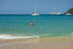 A popular tourist destination in the caribbean Stock Photography