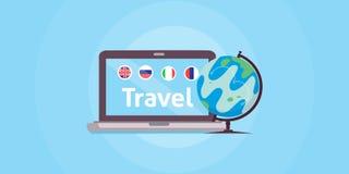 Popular tourist destinations in the world. international travel. Online travel vector illustration. Popular tourist destinations in the world. international royalty free illustration