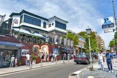 Popular tourist scene at historic foreign residential area in Kitano district, Kobe, Japan Stock Photo