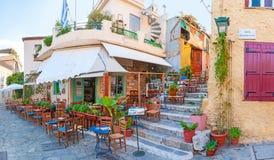 Popular touristic cafe stock image