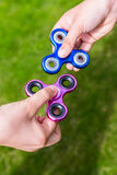 Popular toys fidget spinners Stock Images