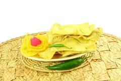 Popular  traditional gujarati Indian snack fafda jalebi Stock Photos