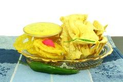 Popular  traditional gujarati Indian snack fafda jalebi Stock Images
