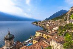 Popular travel destination, Limone on lake Garda Royalty Free Stock Photography