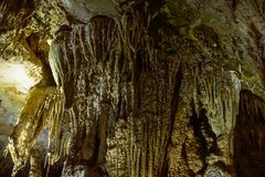 Famous cave in europe Prometheus Cave royalty free stock photos