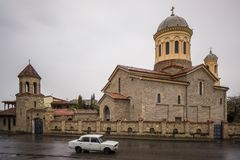 Orthodox church of gori royalty free stock image