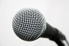 Popular Vocalist Microphone. Shure dynamic microphone Royalty Free Stock Image