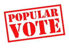 POPULAR VOTE. Red Rubber Stamp over a white background stock illustration
