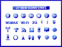 Popular web icons links Stock Photography