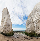 Popular white cliffs Botany Bay La Manche English channel coast, Royalty Free Stock Image