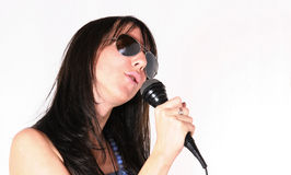 Popular woman music performer Royalty Free Stock Photo